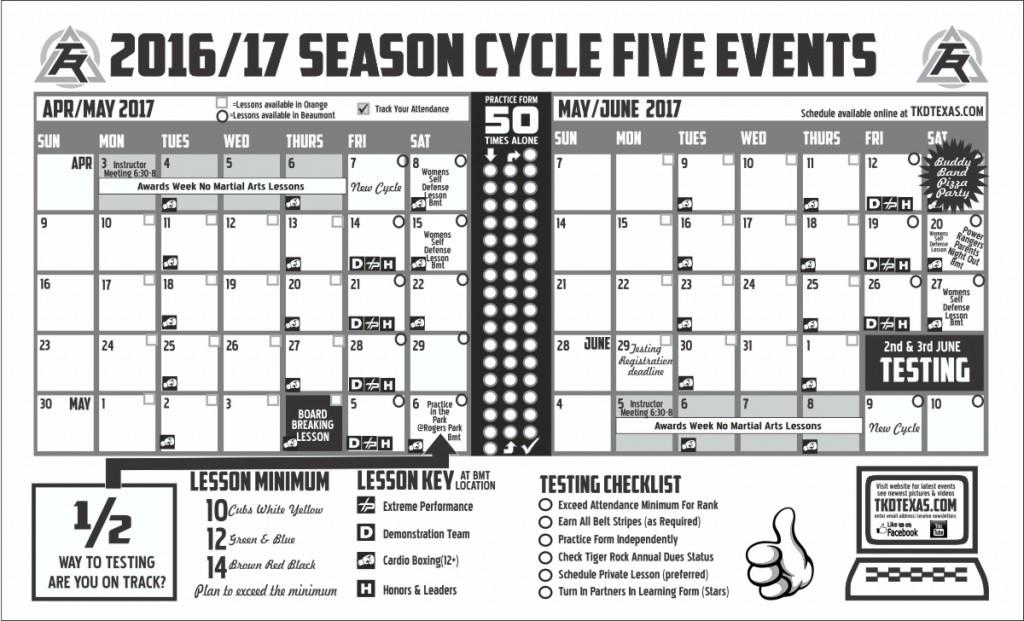 Orange April May Calendar